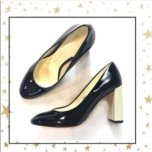 Anne Klein Jaslynn Black/White Patent  pumps heels